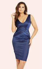 New Jessica Wright Estelle Navy Blue Pleated Bodycon Dress BNWT Size 16
