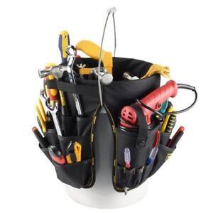 Multi Purpose Garden Bucket Tool Bag Caddy Organizer for Gardener Technician
