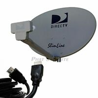 AT&T DIRECTV SWM3 SWM 3 three LNB KAKU Slim Line Dish Slimline HD Dish w/ Mast