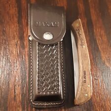 FISHIN BUDDY SKSFB KNIFE MADE IN JAPAN LOCKBACK FILLET VINTAGE SHEATH CASE WOOD