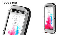 Love Mei Metal Casing For LG G3 Spray Waterproof Stable Protection Silver