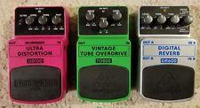 Behringer DR600 Reverb UD100 Distortion TO800 Tube OD guitar effect pedal lot