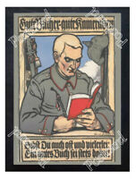 Historic WWI German Recrutiment Poster Good books - good comrades Postcard