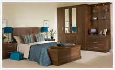BEDROOM  WARDROBE DOOR & DRAWERS FRONTS TUSCANY DARK WALNUT ALL SIZES