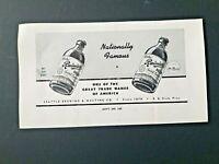"1944 WWII RAINIER BEER Nationally Famous  BUY WAR BONDS  4 Col. x 4"" #31"