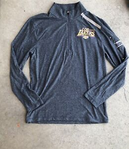 Fanatics Los Angeles Lakers Noches Ene-Be-A. Half zip pull over. grays. Soft. M