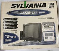 "Vintage Sylvania 13"" Color TV SRT2213 Game Ready With Remote BRAND NEW!! (Sears)"