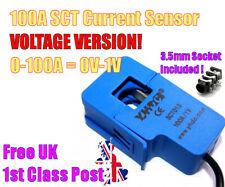 100A SCT-013-100-V AC current sensor Split Core clamp BUILT-IN Resistor & SOCKET