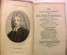 Dr THO PARNELL POEMS POESIES POPE COOKE GRAVURES LIVRE BOOK LITTERATURE LONDON