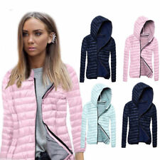 Women's Long Sleeve Hooded Zipper Jacket Slim Winter Warm Coat Outwear Overcoat