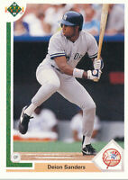 1991 Upper Deck Deion Sanders #352 New York Yankees baseball Card