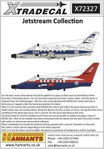 X72327 NEW Xtradecal 1:72 BAe Jetstream Collection Part 1