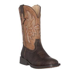 Children Western Cowboy Boot, Boys, Brown