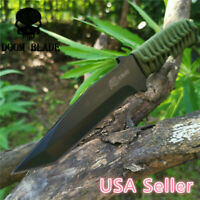 Fixed Blade Knife Camping Hunting Survival Tactical Straight Rope Tool Knives