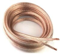 Clear 10 AWG True Gauge 25 FT Copper Mix Marine Car Audio Speaker Cable Wire
