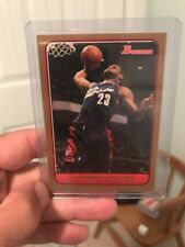 2006-07 BOWMAN LEBRON JAMES GOLD SSP #27/50. Rare As Gold Refractor