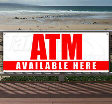 Atm Here Advertising Vinyl Banner Flag Sign Large Sizes! Business Signs Usa