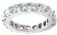2.30 ct Round Diamond Ring Platinum Eternity Band F VS Size 6.5 0.10 ct each