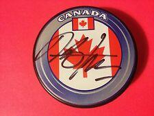 "Dan Boyle SHARKS Team Canada Flag Signed Auto Puck ""PROOF"" COA"