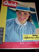 Zeitschrift Quick 08.06.1957 Soraya in Madrid