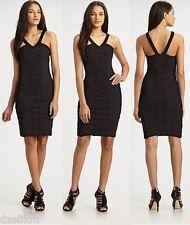 NWT Leifsdottir Cotton Jersey Ruched Dress in Black Sz M
