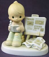 Precious Moments PEACE AMID THE STORM Figurine Jonathan & David 1980 E4723