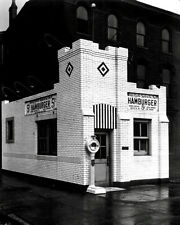 White Castle Photo 8X10 - Louisville Kentucky 1930's Restaurant Sliders