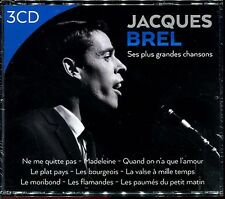 JACQUES BREL - SES PLUS GRANDES CHANSONS - BEST OF 3 CD ALBUM NEUF ET SOUS CELLO