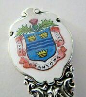 Solid Silver & Enamel Souvenir Spoon, Grantown, 1911