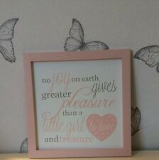 Baby Girl Wall Plaque Gift New Baby Gift Nursery Poem Wall Sign