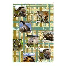 Australia Souvenir Gift Wrapping Paper Koala Wallaby Kookaburra Echidna Wombat