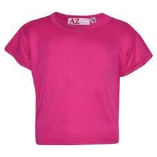 Vêtements T-shirts rose en polyester pour fille de 2 à 16 ans
