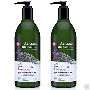 Avalon Organics NOURISHING LAVENDER Glycerin Hand Soap PACK OF 2 355ml each