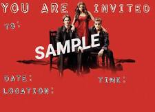 Vampire Diaries Invitations with matching envelopes, red, birthday 12pack