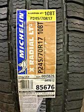 2 New P 245 70 17 Michelin X Radial LT2 Tires