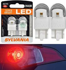 Sylvania ZEVO LED Light 7443 Red Two Bulbs Front Turn Signal Replacement Upgrade