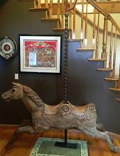 Antique 1920's CJ Spooner Carousel Horse - Outside Row Double Seat Jumper