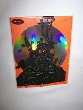 Papyrus Halloween Greeting Card/Envelope; Black Sparkly Mobile