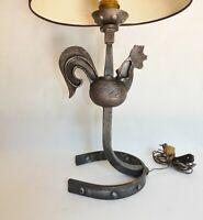 Lampe Jean Touret Ateliers de Marolles Modèle Coq en fer circa 1950