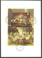 ABKHAZIA 1997 SCOUT JAMBOREE Foxhunt DOGS PLAYING POKER ROTARY GREEN OP MS