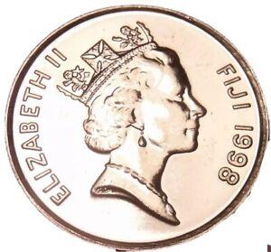 FIJI 5 Cents, 1998, KM:51A, Queen Elizabeth II, Fajian Drum, UNC World Coin