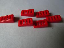 LEGO parte 61409 pendiente rojo con ranuras 4 X 6