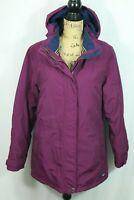 Lands End Squall Parka Women's Medium 10-12 Burgundy Hooded Winter Coat