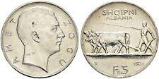 More details for albania amet zogu 1926 r 5 franga ari rome silver coin monedh argjend kosovo
