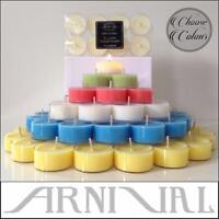 8-256pc BULK UNSCENTED 100% NATURAL SOY WAX TEALIGHT tea light CANDLES 40hr/pack