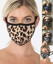 Animal Print Face Mask Washable Reusable Easy to breath Camouflage Face Cover