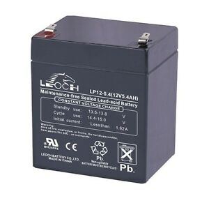 Leoch LP12-5.4 12v 5.4Ah Rechargeable Sealed Lead Acid Battery