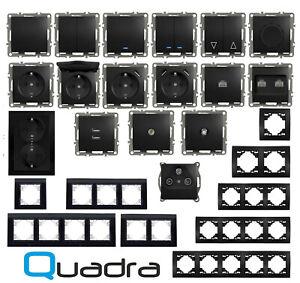 Steckdose Unterputz Schwarz Wandschalter Lichtschalter Rahmen Vertikal Dimmer