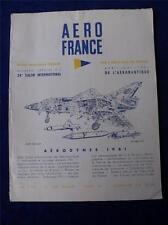 AERO FRANCE BOOK MAGAZINE AERODYNES 1961 AIRPLANES INFORMATION DIAGRAMS FRENCH