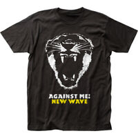 Against Me! New Wave T Shirt Mens Licensed Rock N Roll Band Tee Axl Rose Black